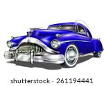 retro car. | Shutterstock .eps vector #261194441