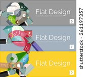 flat design vector infographic... | Shutterstock .eps vector #261197357