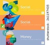 flat design vector infographic... | Shutterstock .eps vector #261197435