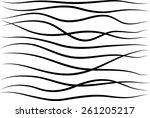 vector black lines  | Shutterstock .eps vector #261205217