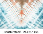abstract tie dyed fabric... | Shutterstock . vector #261214151