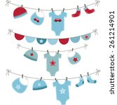 Baby Boy Shower Set