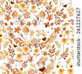 beautiful pattern with... | Shutterstock . vector #261227627