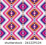 tribal seamless colorful... | Shutterstock .eps vector #261229124