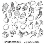vector set of different hand... | Shutterstock .eps vector #261230201