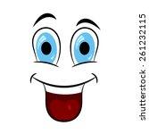 cartoon expression. vector... | Shutterstock .eps vector #261232115