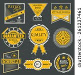 premium quality labels. set of... | Shutterstock .eps vector #261237461
