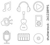 music icons | Shutterstock .eps vector #261238991