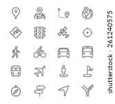 navigation thin icons