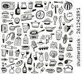 cookery  food   doodles... | Shutterstock .eps vector #261242891