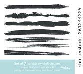 set of  ink strokes   Shutterstock .eps vector #261244229