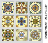 set with seamless ornamental...   Shutterstock .eps vector #261248339