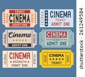 vector cinema ticket in retro... | Shutterstock .eps vector #261249584