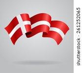 danish waving flag. vector...