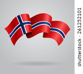 norwegian waving flag. vector... | Shutterstock .eps vector #261252101
