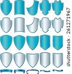 vector shields set illustration | Shutterstock .eps vector #261271967