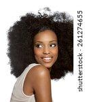 happy african girl. | Shutterstock . vector #261274655
