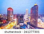 skyline and office buildings of ... | Shutterstock . vector #261277301