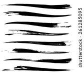 vector set of grunge brush... | Shutterstock .eps vector #261285095
