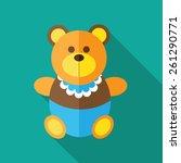 children's  teddy bear  with... | Shutterstock .eps vector #261290771