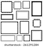 set of scalloped frames | Shutterstock .eps vector #261291284