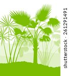 palm tree landscape ecology... | Shutterstock .eps vector #261291491