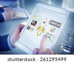 startup innovation planning... | Shutterstock . vector #261295499
