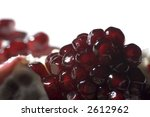 close up of pomegranate on white | Shutterstock . vector #2612962