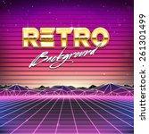 80s retro futurism sci fi... | Shutterstock .eps vector #261301499