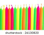 row of unlit birthday candles