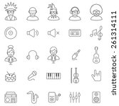 music  line icons set.vector | Shutterstock .eps vector #261314111