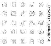 internet line icons.set 2.vector | Shutterstock .eps vector #261314117