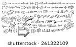 vector hand drawn arrows set... | Shutterstock .eps vector #261322109
