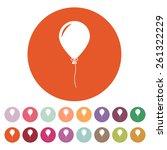 The Balloon Icon. Holiday...