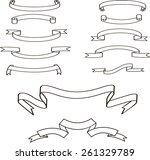 vector set of 12 ribbons | Shutterstock .eps vector #261329789