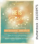 bright and shining he is risen... | Shutterstock .eps vector #261333971