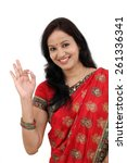 traditional indian woman...   Shutterstock . vector #261336341