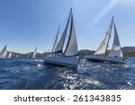 sailing yacht race. sailing... | Shutterstock . vector #261343835