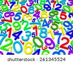 background of numbers. from... | Shutterstock . vector #261345524