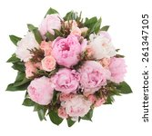 Bouquet Made Of Peony  Rose An...