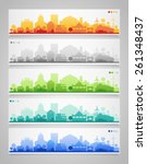 vector collection of 5... | Shutterstock .eps vector #261348437