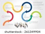 template for advertising... | Shutterstock .eps vector #261349904