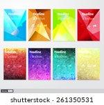 vector set flyer. brochure... | Shutterstock .eps vector #261350531