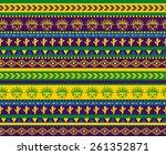 vector seamless aztec pattern... | Shutterstock .eps vector #261352871