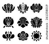 set hand drawn black... | Shutterstock .eps vector #261358019
