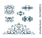 vector design template   label... | Shutterstock .eps vector #261360011