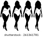 four stages of abstract woman... | Shutterstock .eps vector #261361781