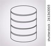 database icon | Shutterstock .eps vector #261363005