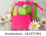 background  gift  red. | Shutterstock . vector #261371981