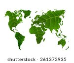 eco world map made of green... | Shutterstock . vector #261372935